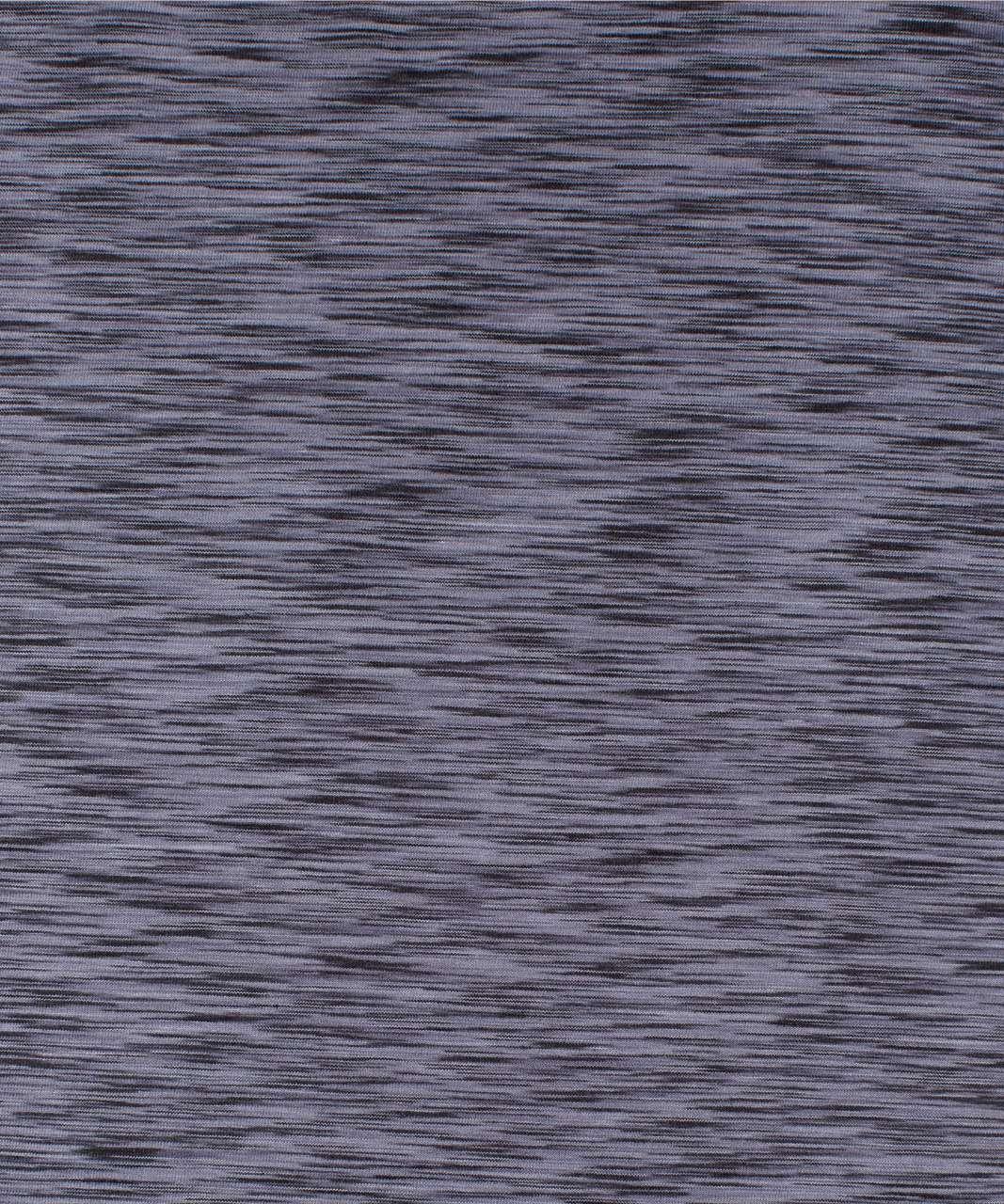 Lululemon Back In Action Long Sleeve - Space Dye Black / Dark Shadow