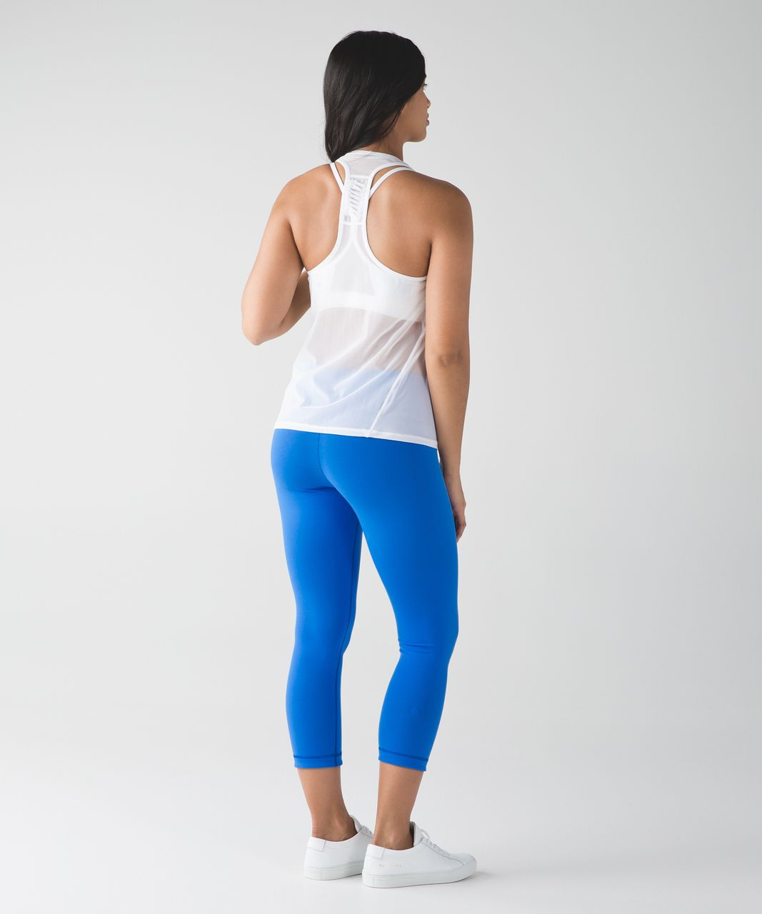 Lululemon Wunder Under Crop III (Reversible) - Hero Blue / Pipe Dream Blue