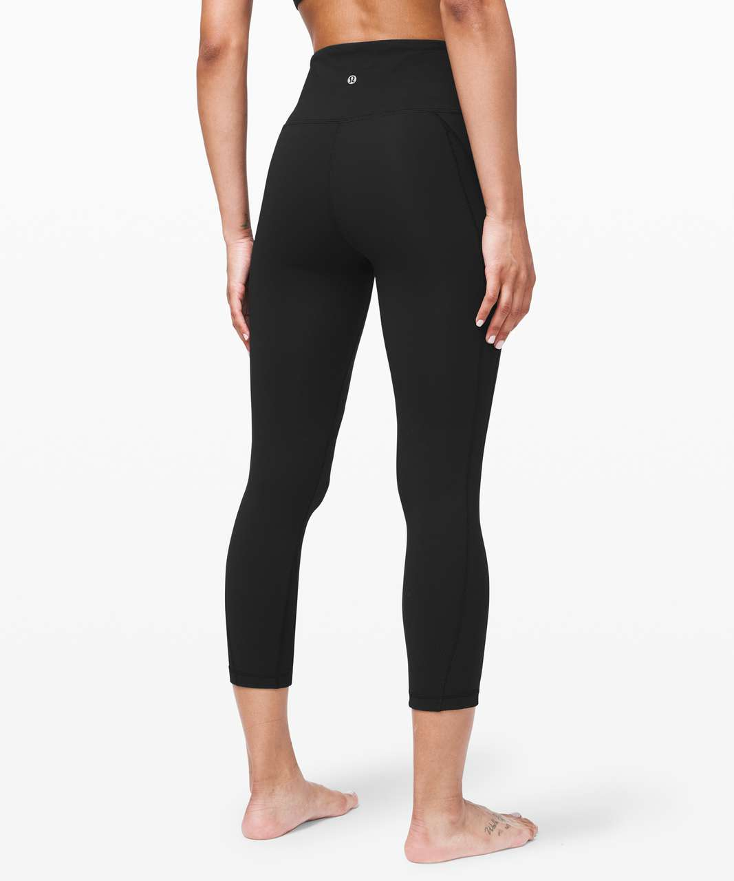 "Lululemon Wunder Under Crop *Ribbed 23"" - Black"