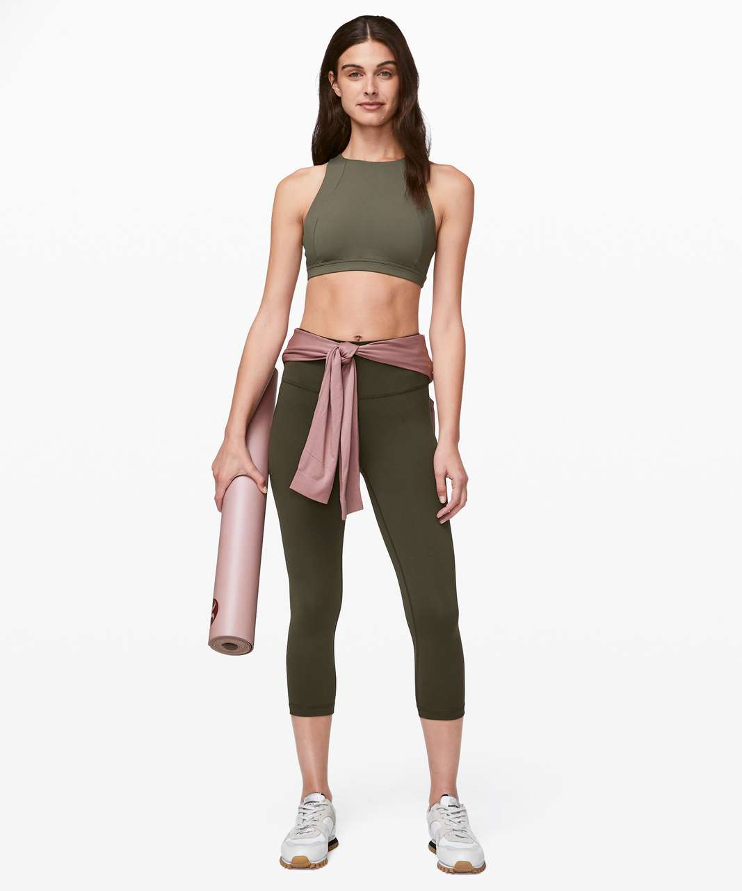 "Lululemon Wunder Under Crop (High-Rise) *Full-On Luxtreme 21"" - Dark Olive"