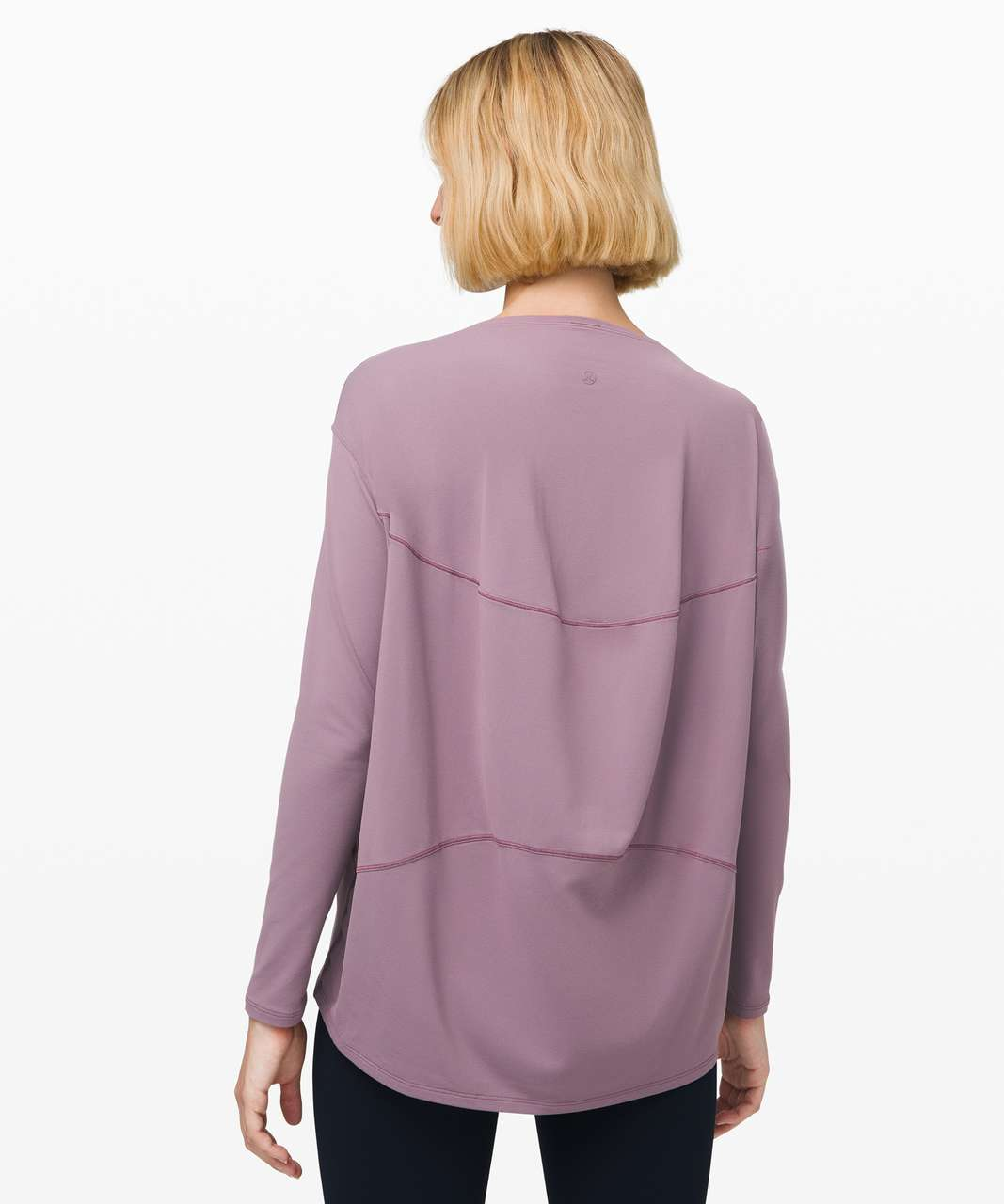Lululemon Back in Action Long Sleeve *Rulu - Frosted Mulberry