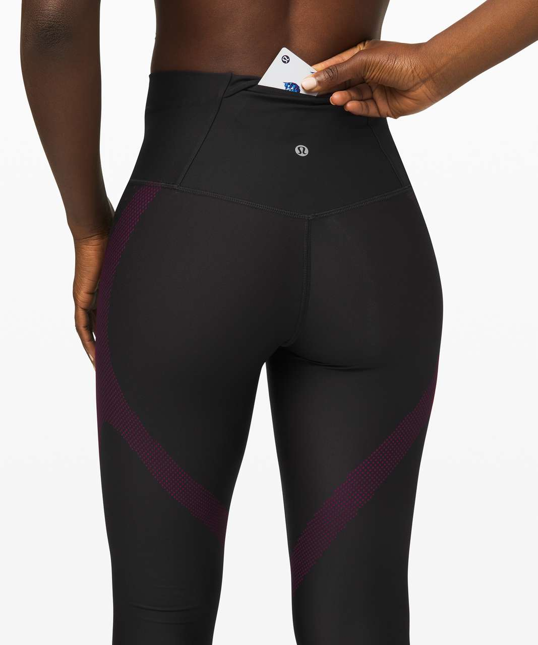 """Lululemon Mapped Out High-Rise Tight 28"""" - Black / Marvel"""