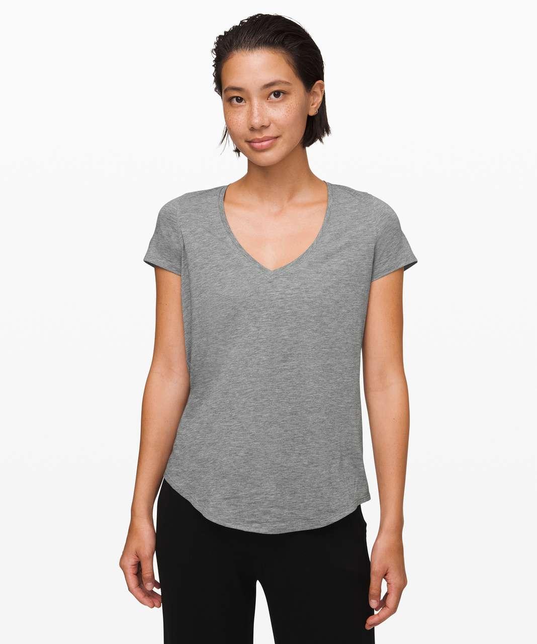 Lululemon Love Tee V - Heathered Core Medium Grey