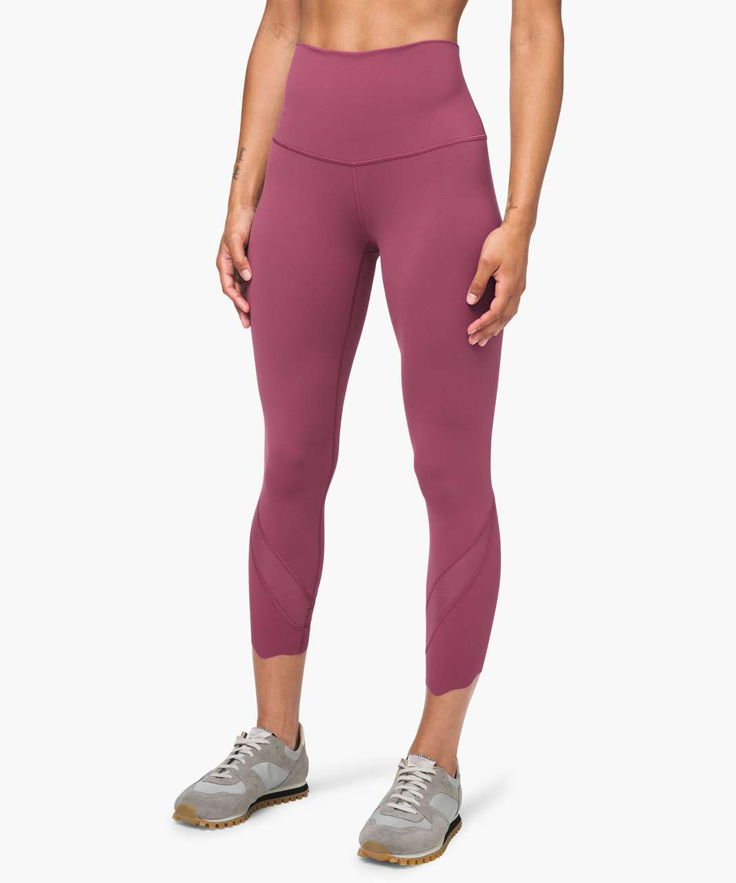 "Lululemon Wunder Under Crop High-Rise *Roll Down Scallop Full-On Luxtreme 24"" - Plumful"