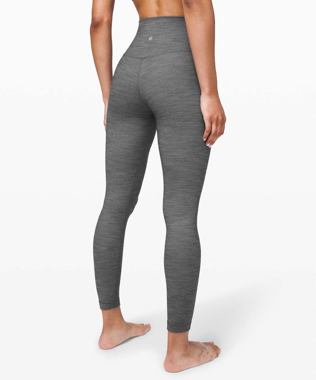 """Lululemon Align Pant II 25"""" - Mini Heathered Herringbone Heathered Black White / Black"""