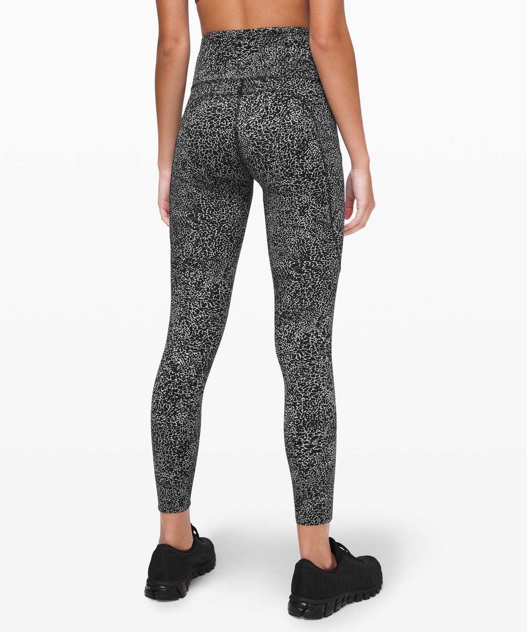 "Lululemon Fast and Free Tight II 25"" *Non-Reflective Nulux - Polar Shift Ice Grey Black"
