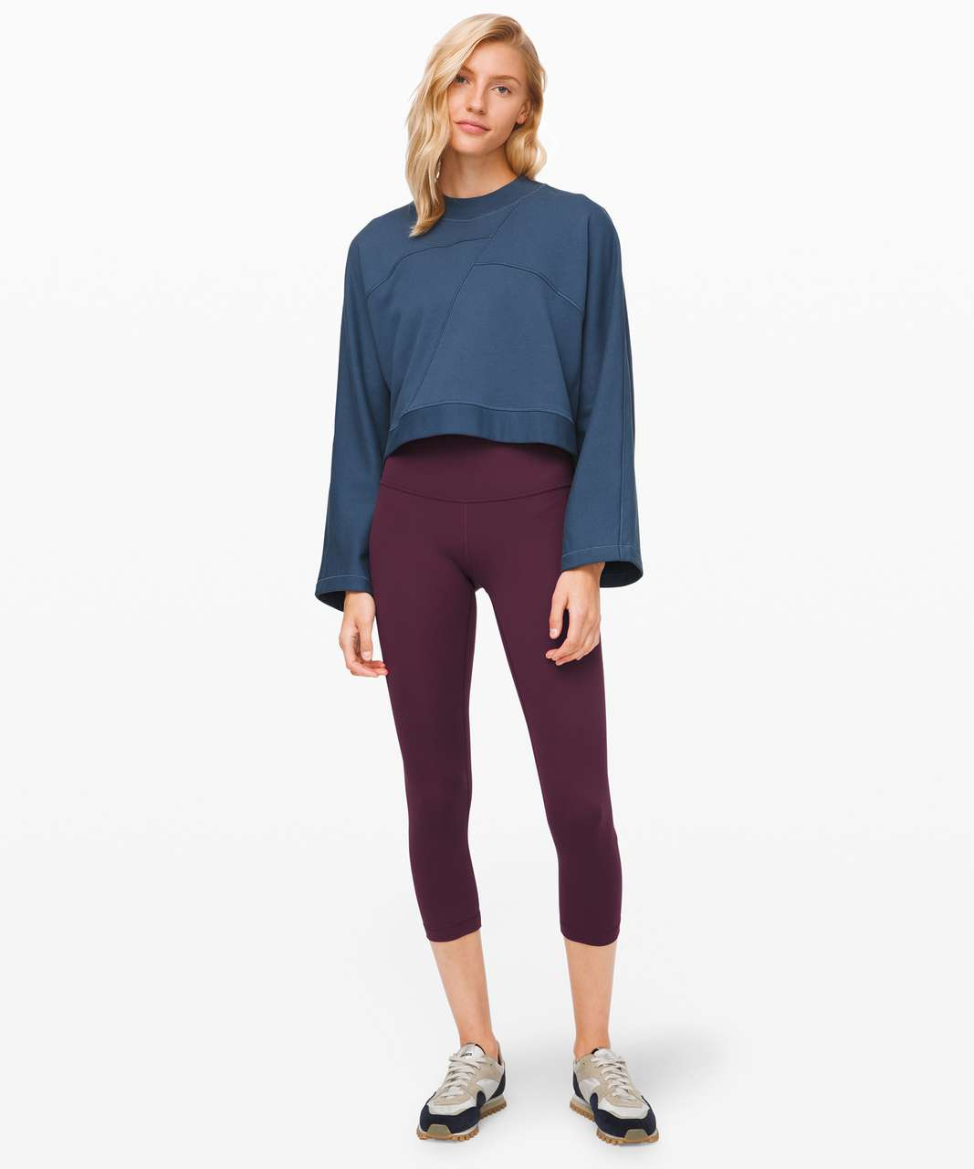 "Lululemon Wunder Under Crop (High-Rise) *Full-On Luxtreme 21"" - Arctic Plum"