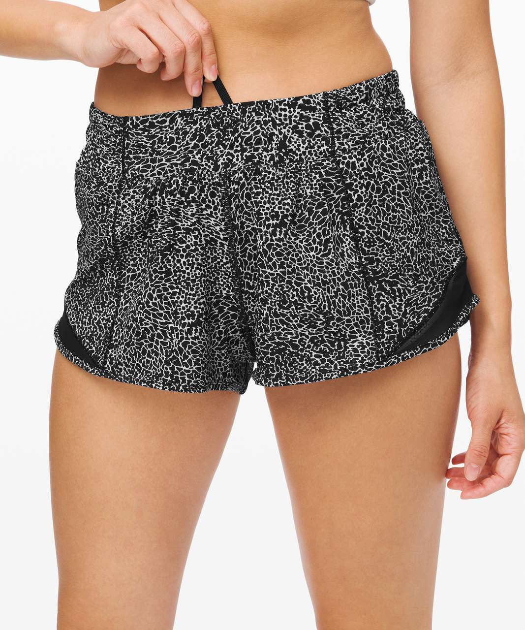 "Lululemon Hotty Hot Short II *2.5"" - Polar Shift Inverse Alpine White Black / Black"