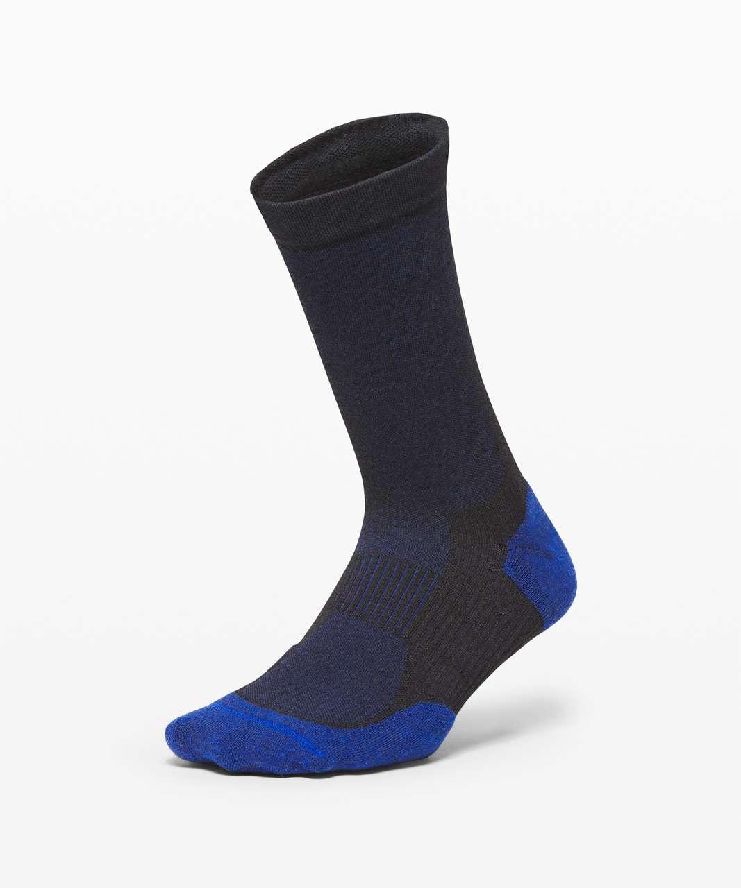 Lululemon Coast to Roam Crew Sock *Wool - Larkspur / Black