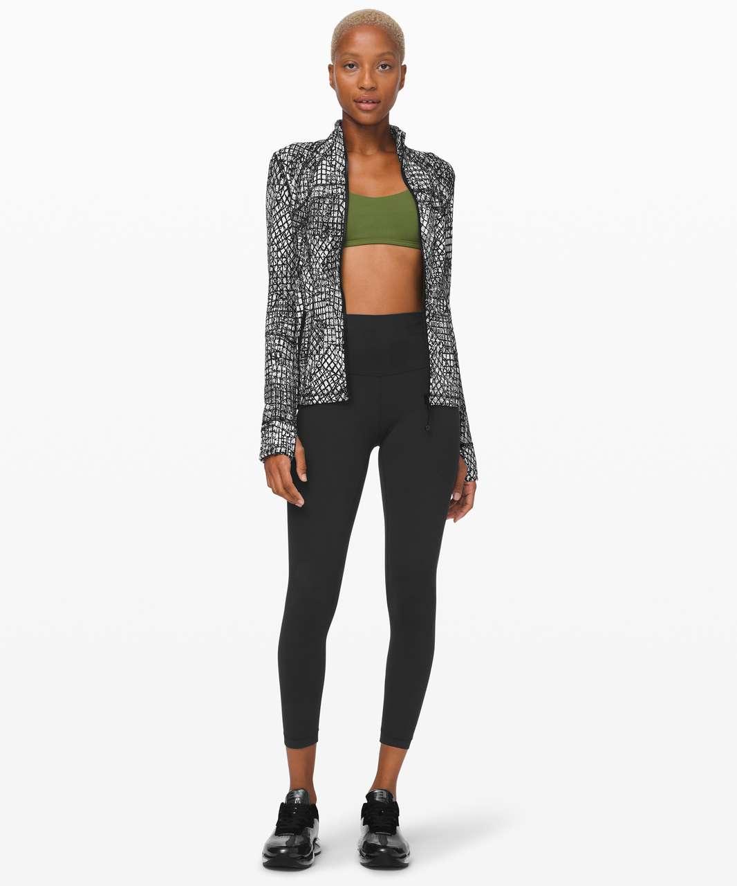 Lululemon Define Jacket *Luxtreme - Tectonic Jacquard White Black