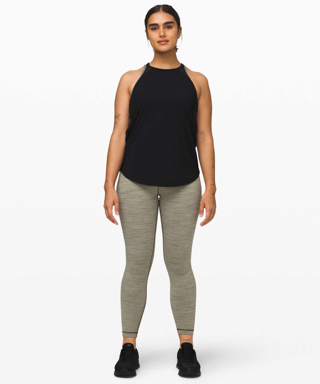 """Lululemon Wunder Under High-Rise Tight 25"""" *Full-On Luon - Wee Are From Space Sage Dark Olive"""