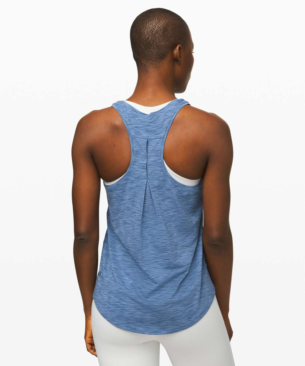 Lululemon Love Tank *Pleated - Space Dye Code Blue / Blue Denim