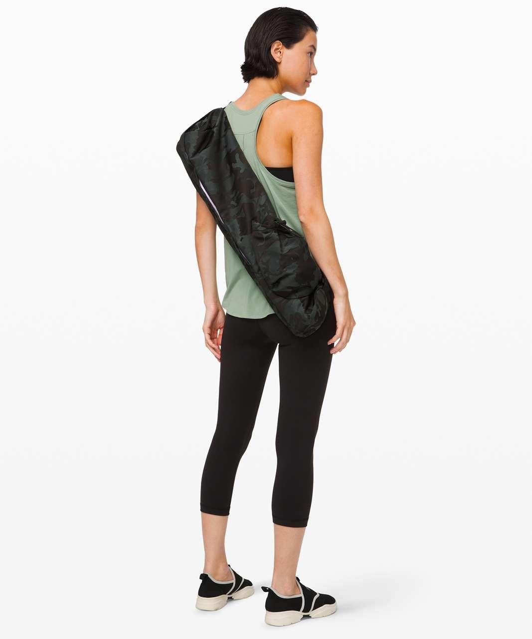 Lululemon The Yoga Mat Bag *16L - Jacquard Camo Cotton Obsidian / Black