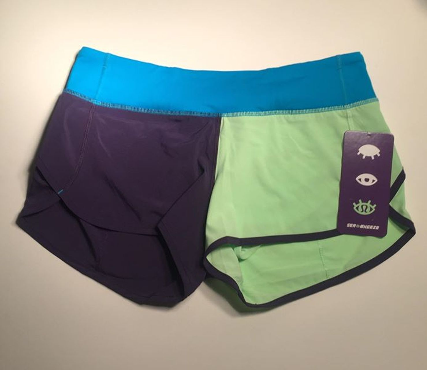 Lululemon Speed Short - 2014 Seawheeze - Color Block