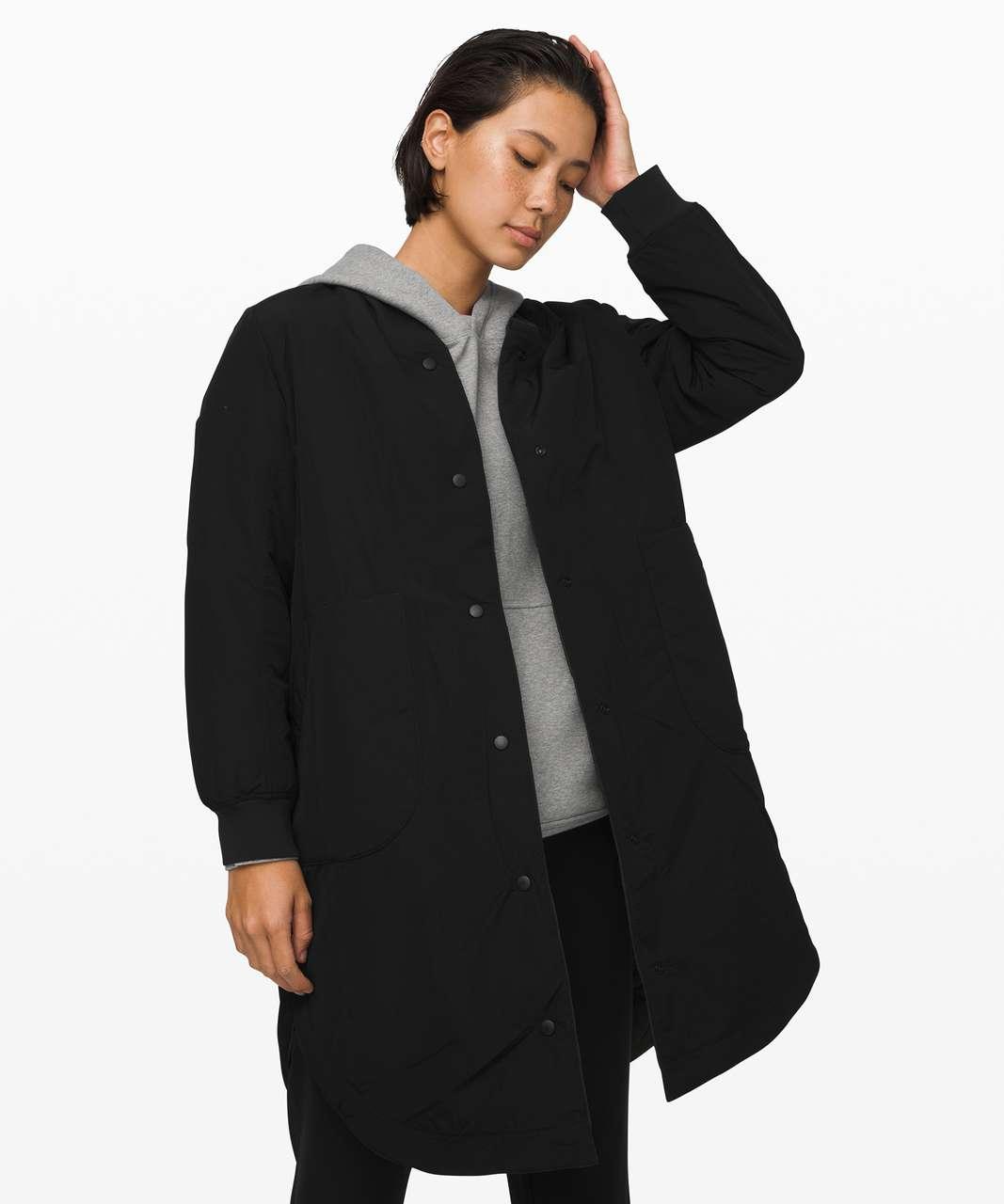 Lululemon Enough Puff Jacket - Dark Olive / Black