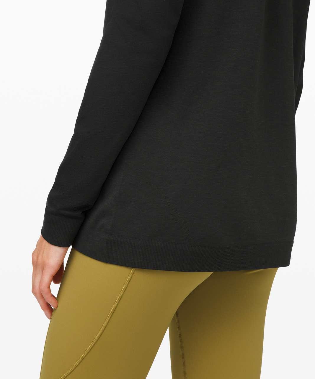 Lululemon Swiftly Relaxed Long Sleeve - Dark Olive / Black