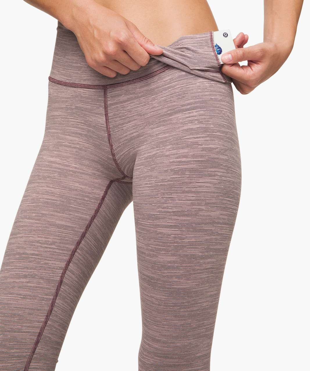 """Lululemon Wunder Under High-Rise Tight 25"""" - Wee Are From Space Frosted Mulberry Black Currant"""