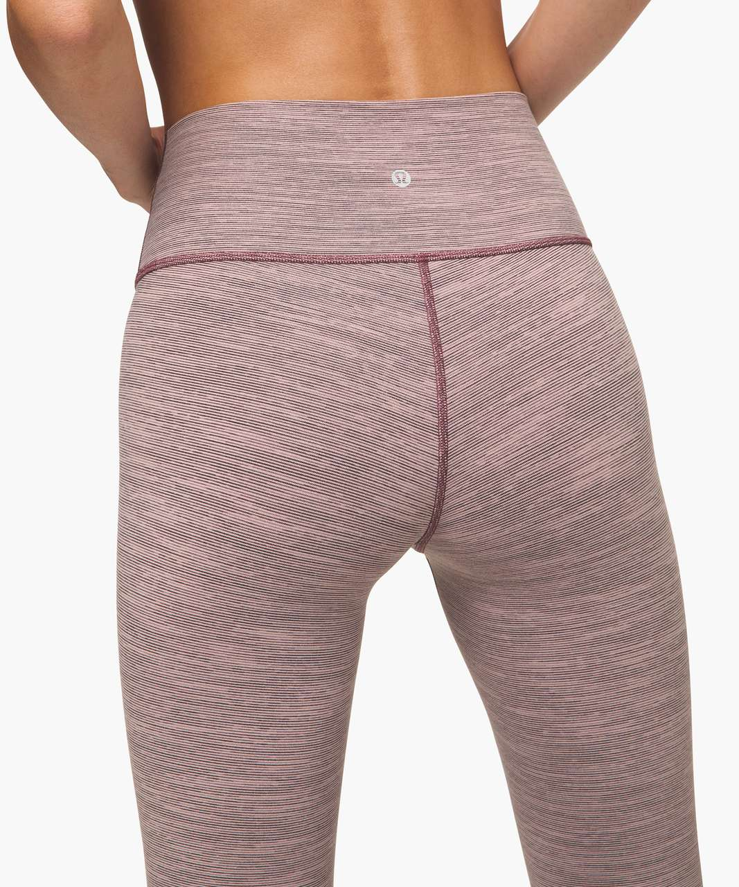 "Lululemon Wunder Under High-Rise Tight 25"" - Wee Are From Space Frosted Mulberry Black Currant"