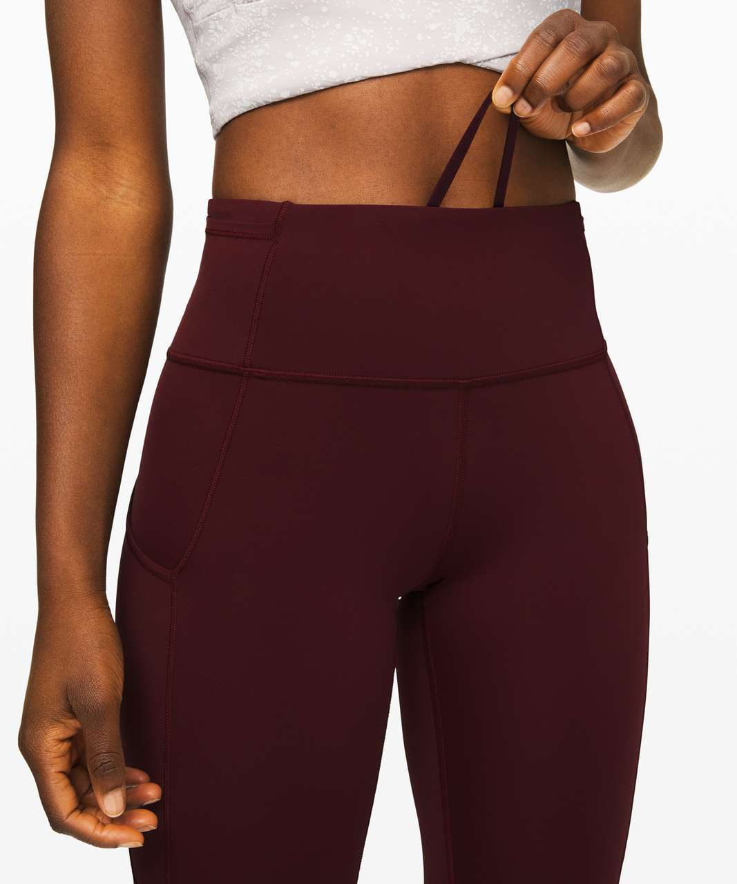"""Lululemon Fast and Free Tight II 25"""" *Non-Reflective Nulux - Garnet"""