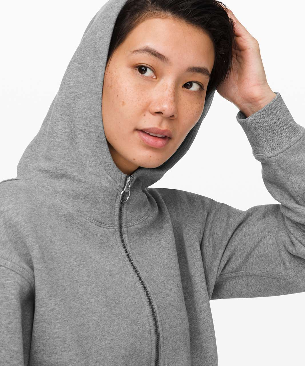 Lululemon All Yours Zip Hoodie - Heathered Core Medium Grey