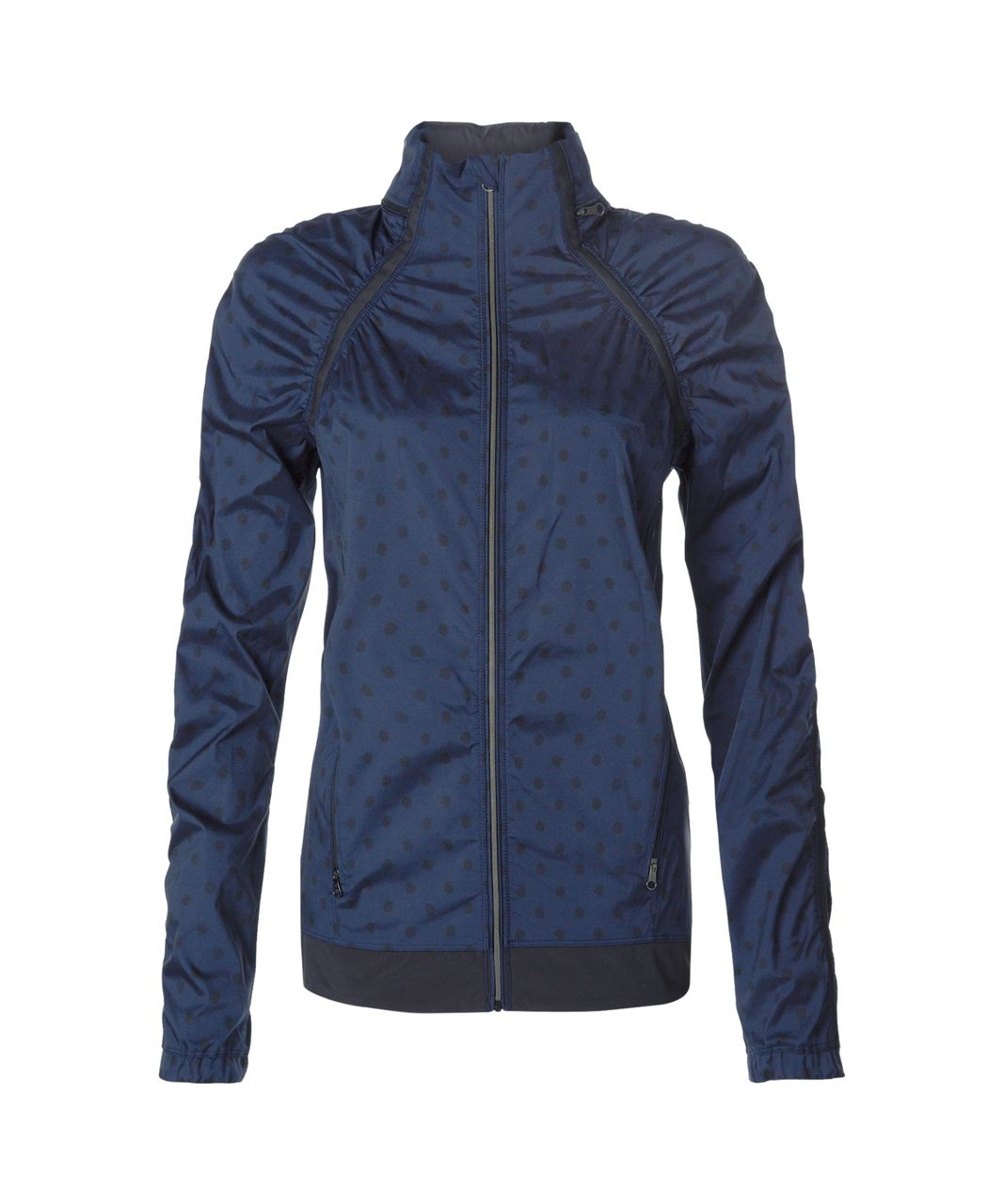 Lululemon Gather And Sprint Jacket - Ghost Dot Deep Navy Black / Black