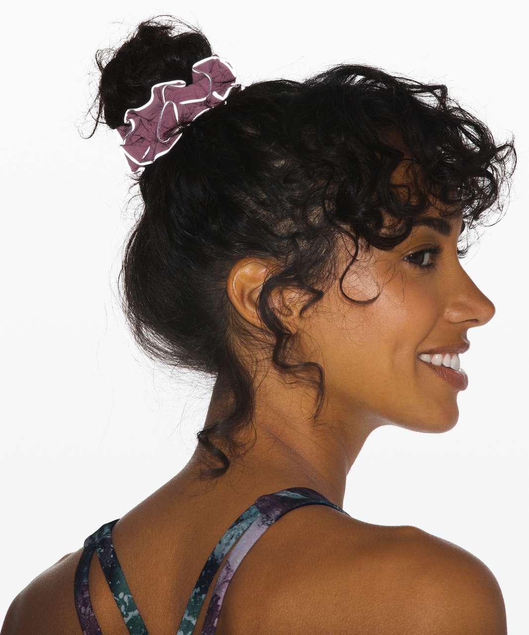 Lululemon Light Locks Scrunchie II - Pink Taupe