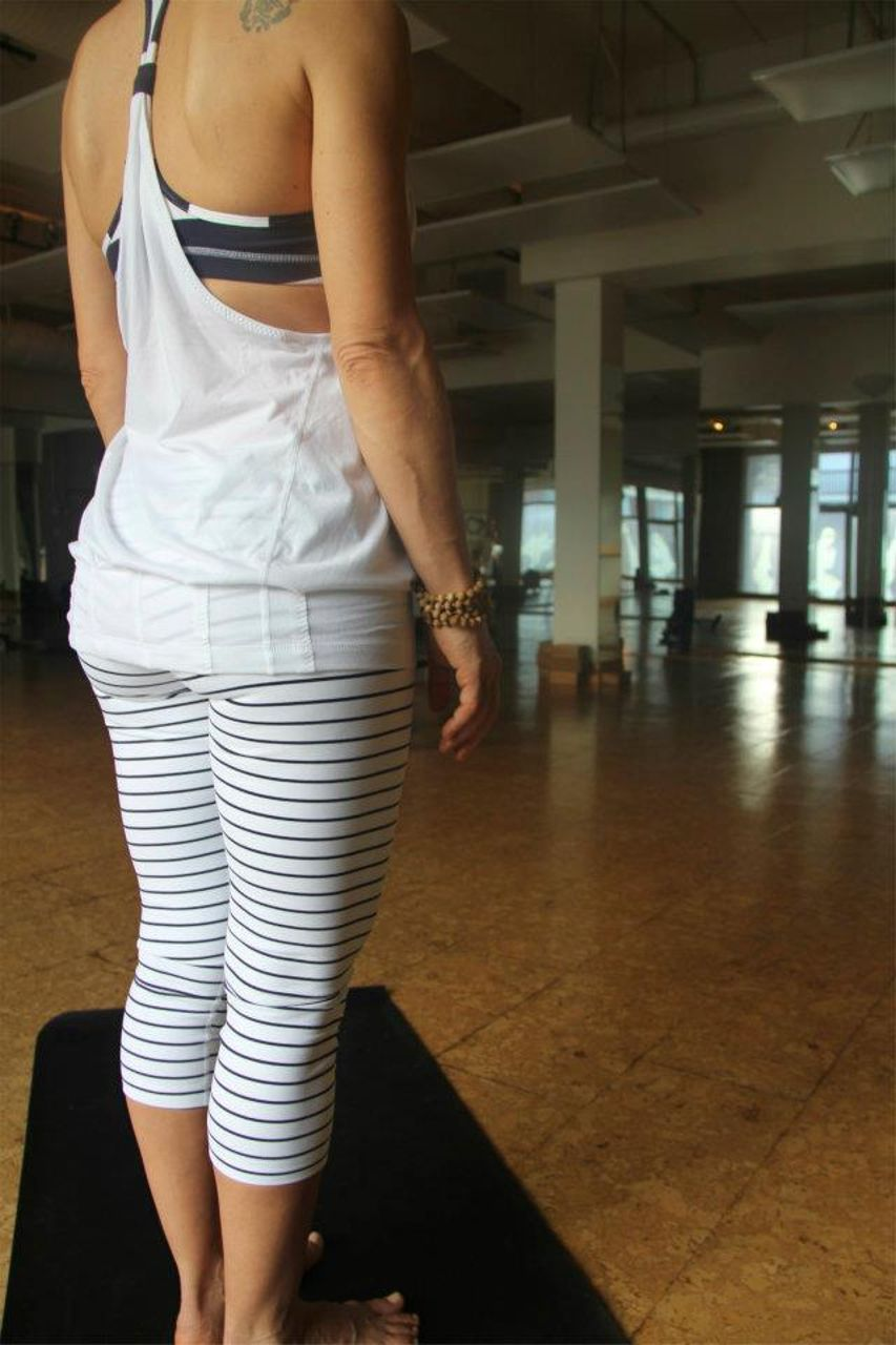 Lululemon Wunder Under Crop - Quiet Stripes - lulu fanatics