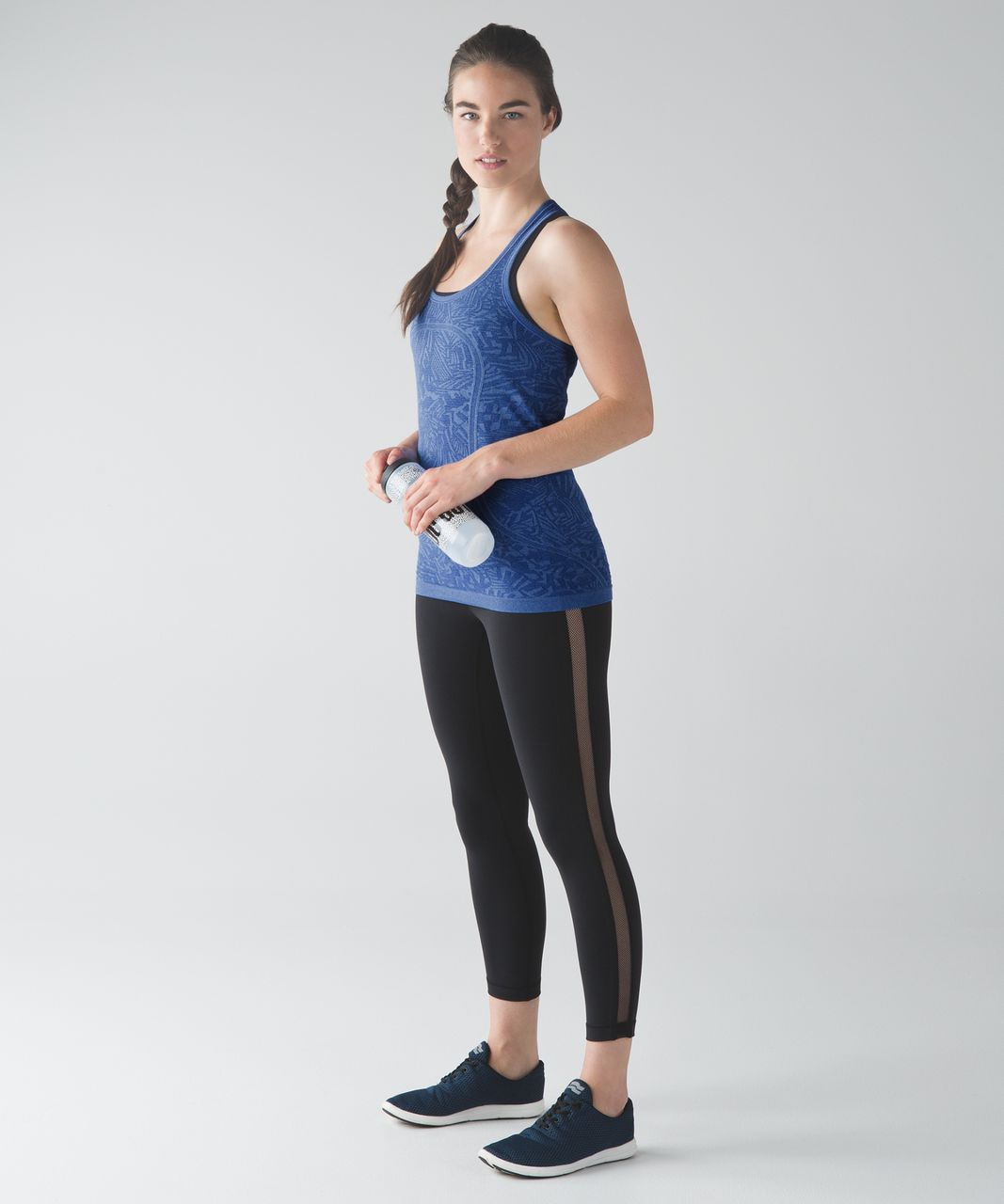 Lululemon Swiftly Tech Racerback - Heathered Harbor Blue