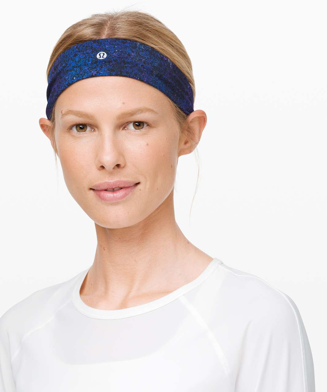 Lululemon Fly Away Tamer Headband - Polar Lights Blue Multi