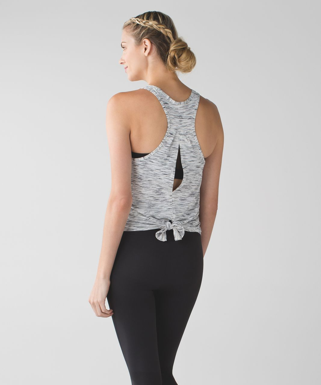 Lululemon Salute the Sun Tank - Tiger Space Dye Black White