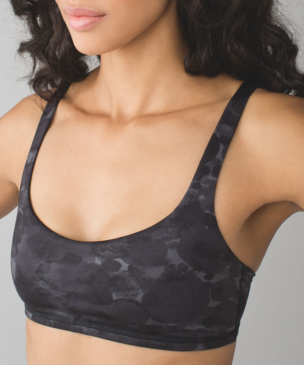 Lululemon Free To Be Bra - Poppy Petals Dark Slate Black / Black