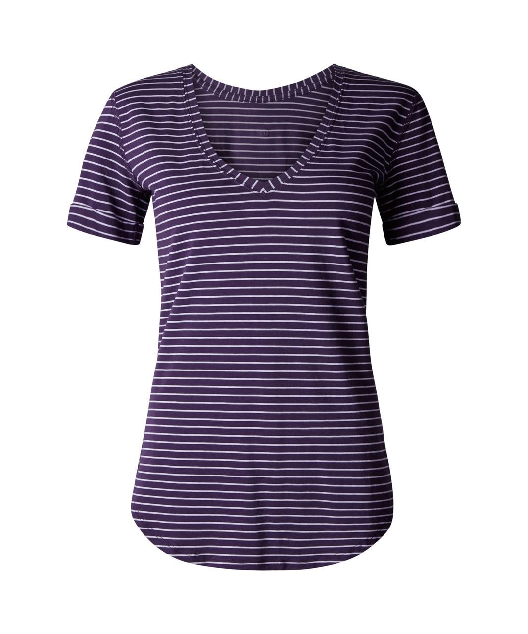 Lululemon Love Tee II - Parallel Stripe Lilac Deep Zinfandel