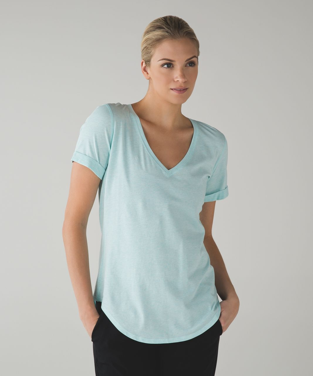Lululemon Love Tee II - Heathered Aquamarine