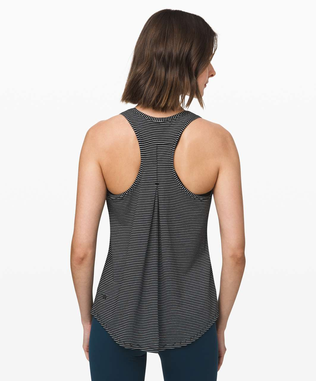 Lululemon Love Tank *Pleated - Hype Stripe Black White (First Release)