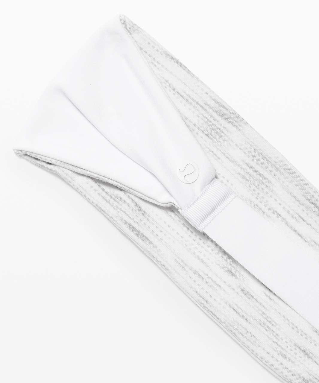 Lululemon Fringe Fighter Headband - White / Tiger Space Dye Hail White