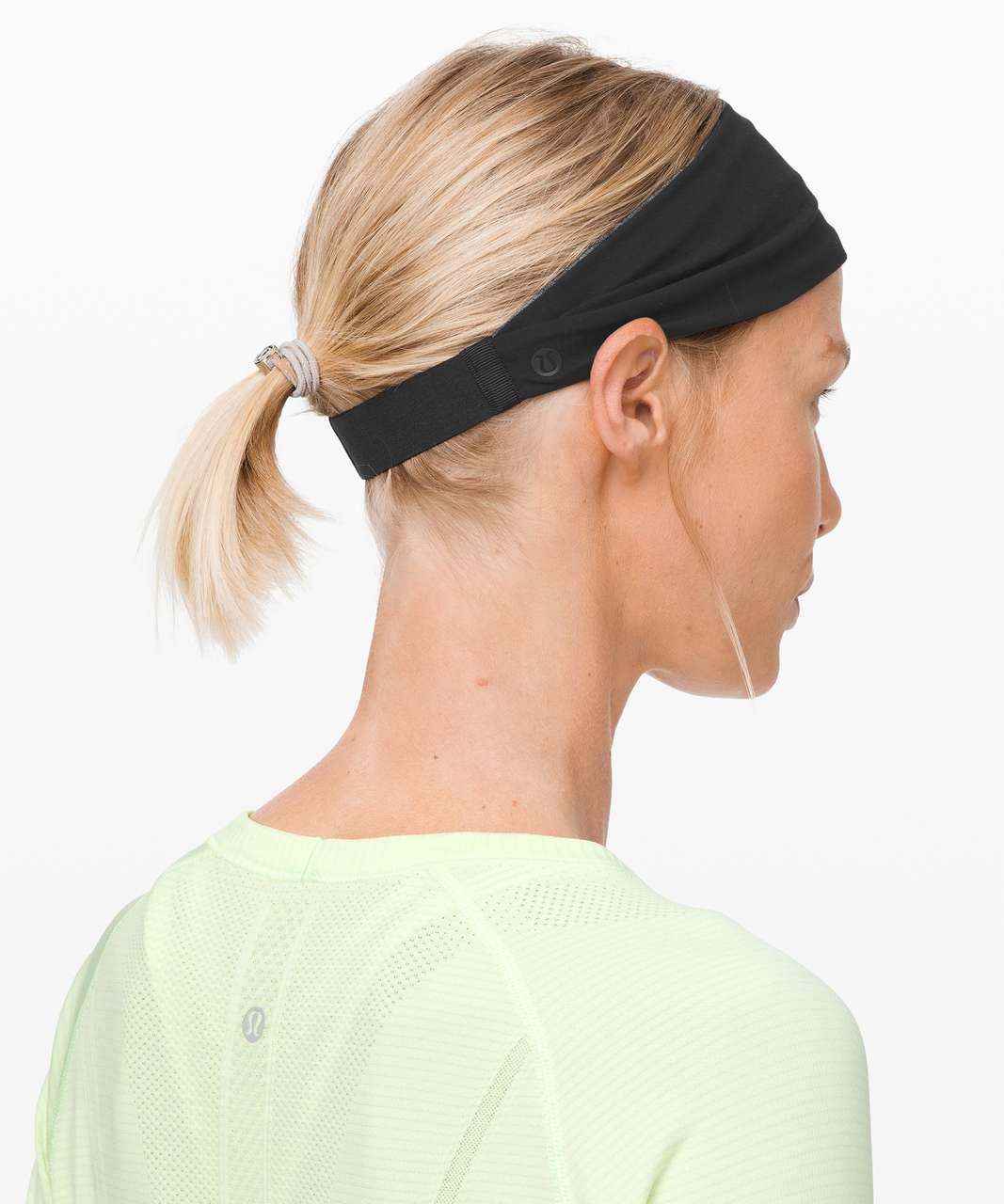 Lululemon Fringe Fighter Headband - Black / Heathered Black (Third Release)