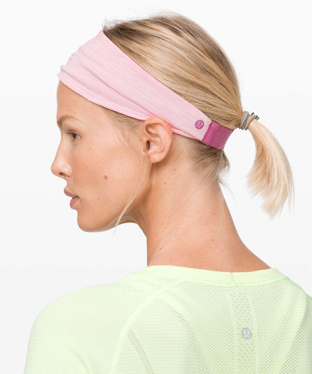 Lululemon Fringe Fighter Headband - Moss Rose / Heathered Dusty Pink