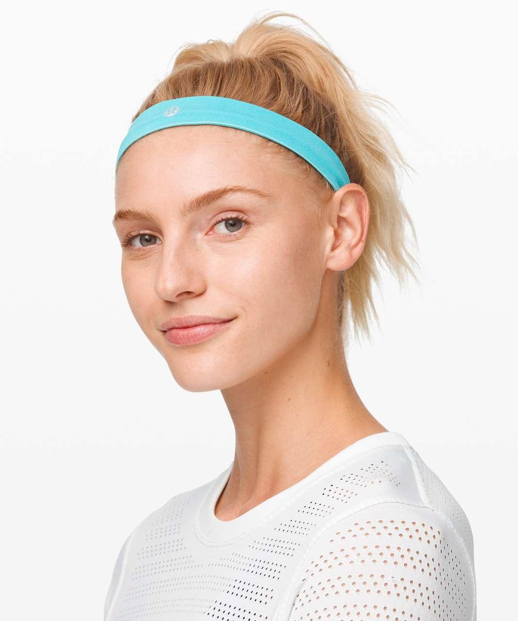 Lululemon Cardio Cross Trainer Headband - Aqua Glow / Aqua Aura