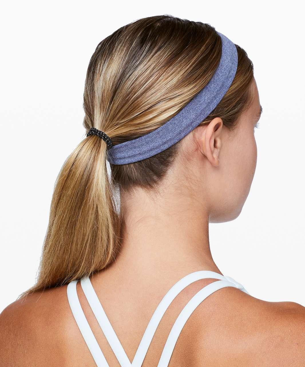 Lululemon Cardio Cross Trainer Headband - Deep Navy / White