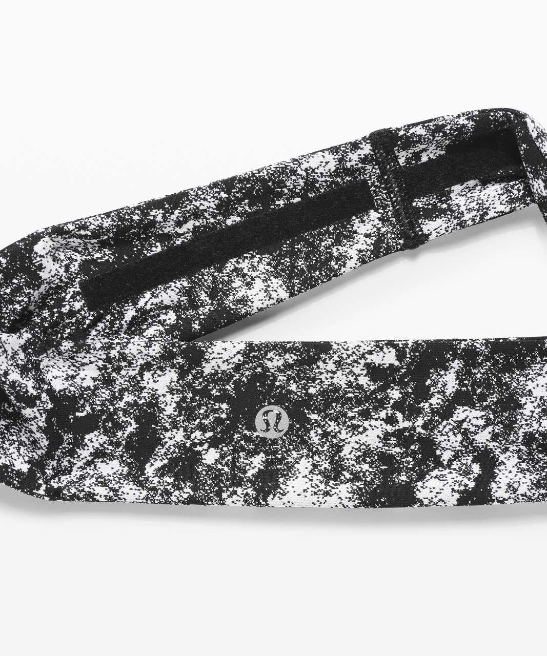 Lululemon Fly Away Tamer Headband II - Misted Jacquard Black White