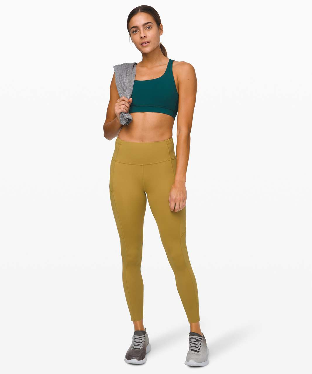 "Lululemon Fast and Free Tight II 25"" *Non-Reflective Nulux - Grape Leaf"