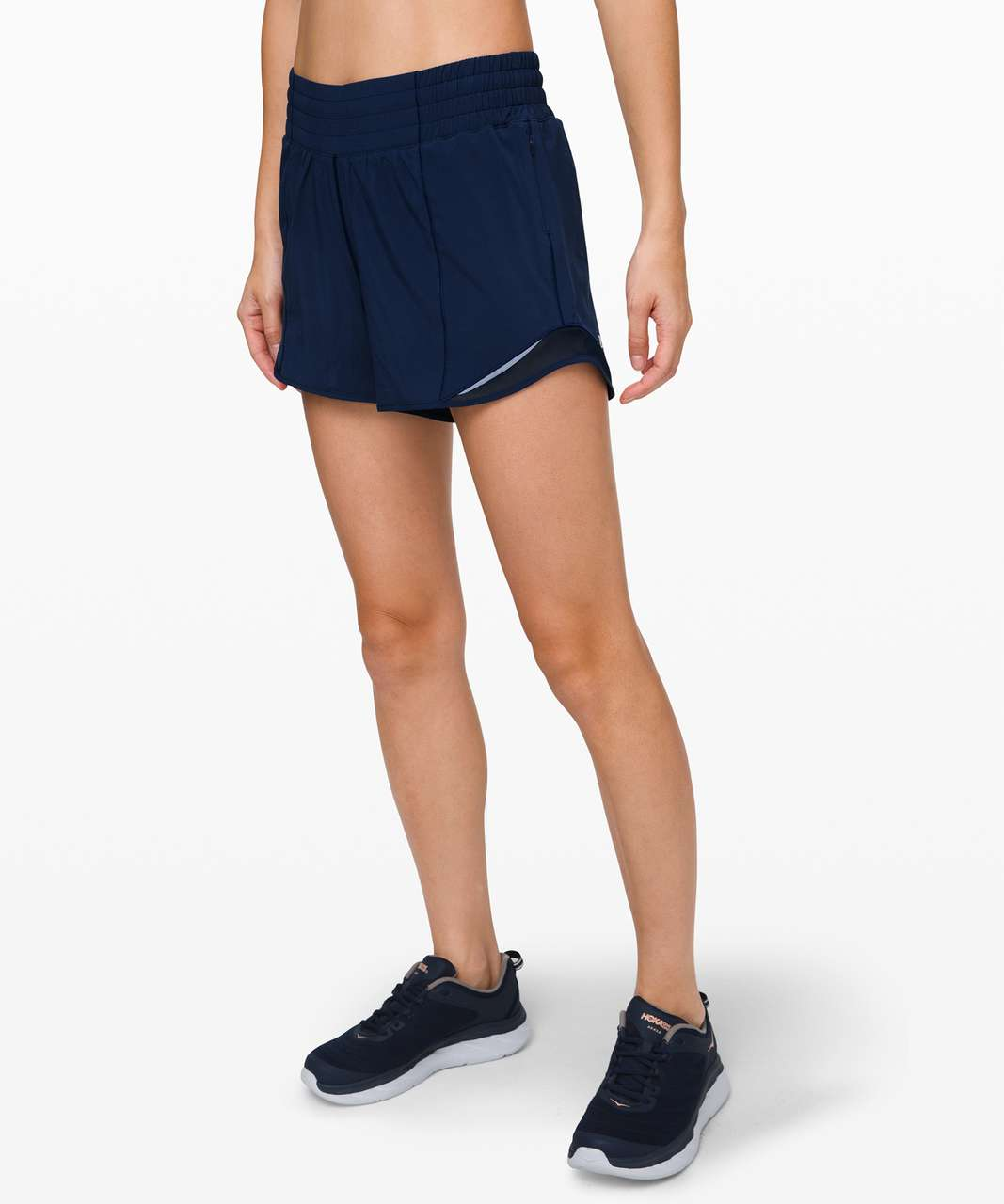 "Lululemon Hotty Hot Short *High-Rise Long 4"" - True Navy"
