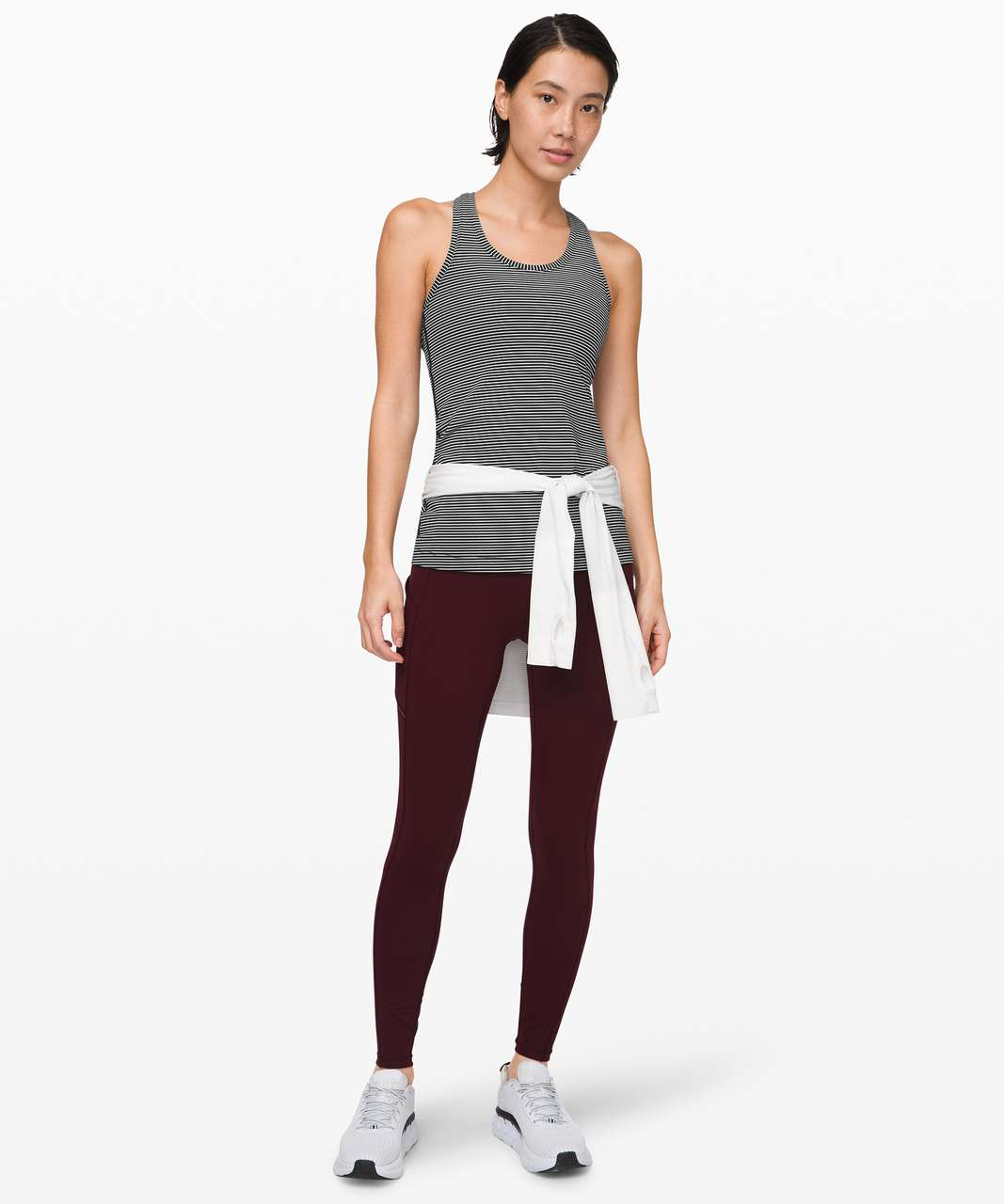 Lululemon Cool Racerback - Hype Stripe Black White