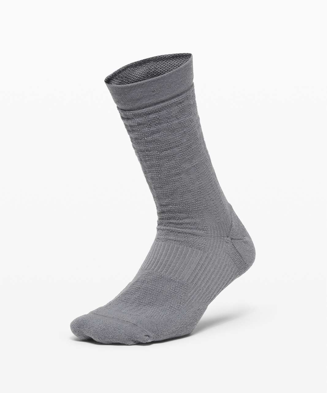 Lululemon Coast to Roam Crew Sock *Wool - Asphalt Grey / Light Cast