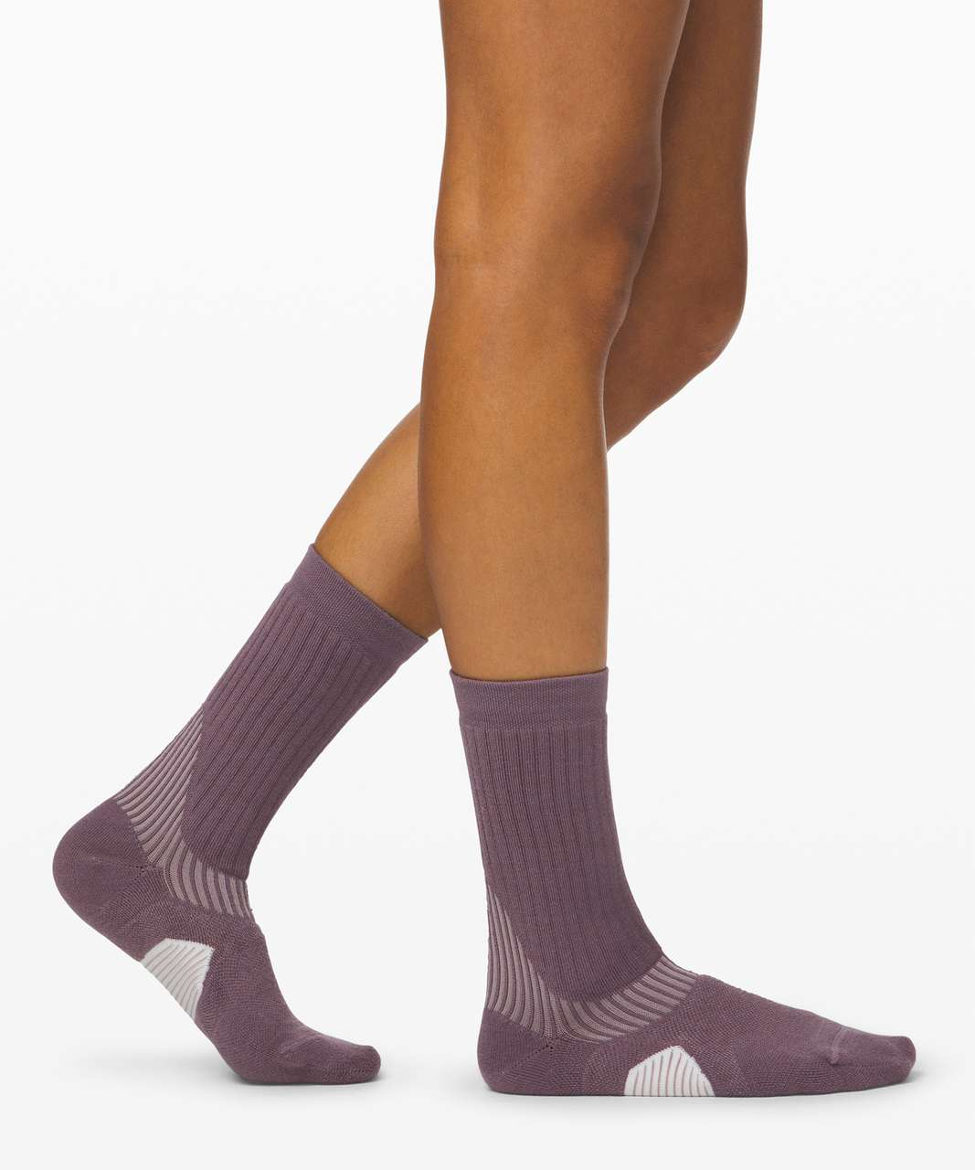 Lululemon Speed Crew Sock *Wool - Frosted Mulberry / Smoky Blush