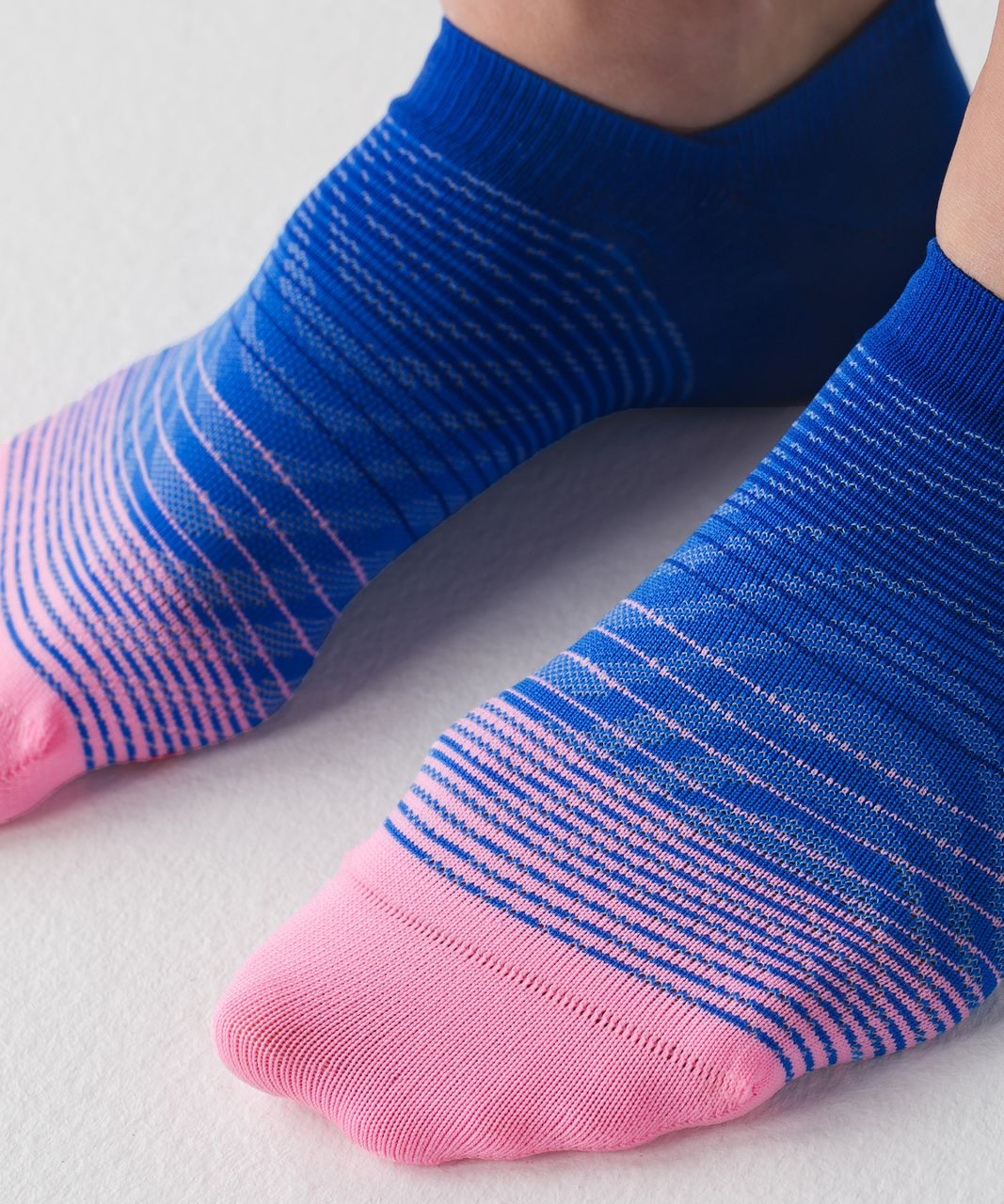Lululemon Play All Day Sock - Pink Shell / Pipe Dream Blue / Harbor Blue