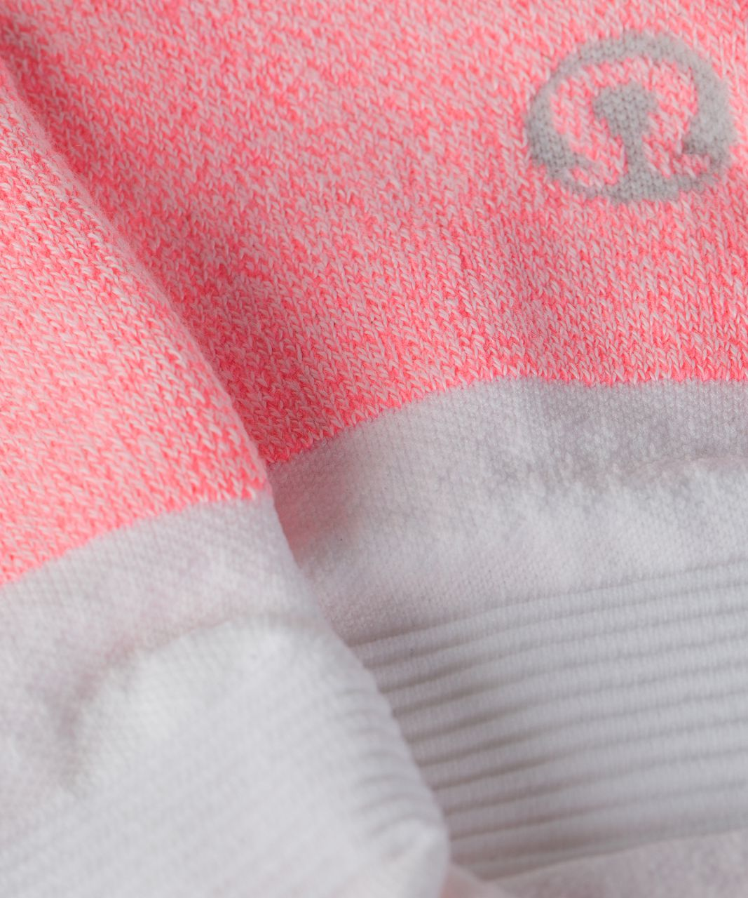 Lululemon High Speed Sock - Grapefruit / White / Pipe Dream Blue