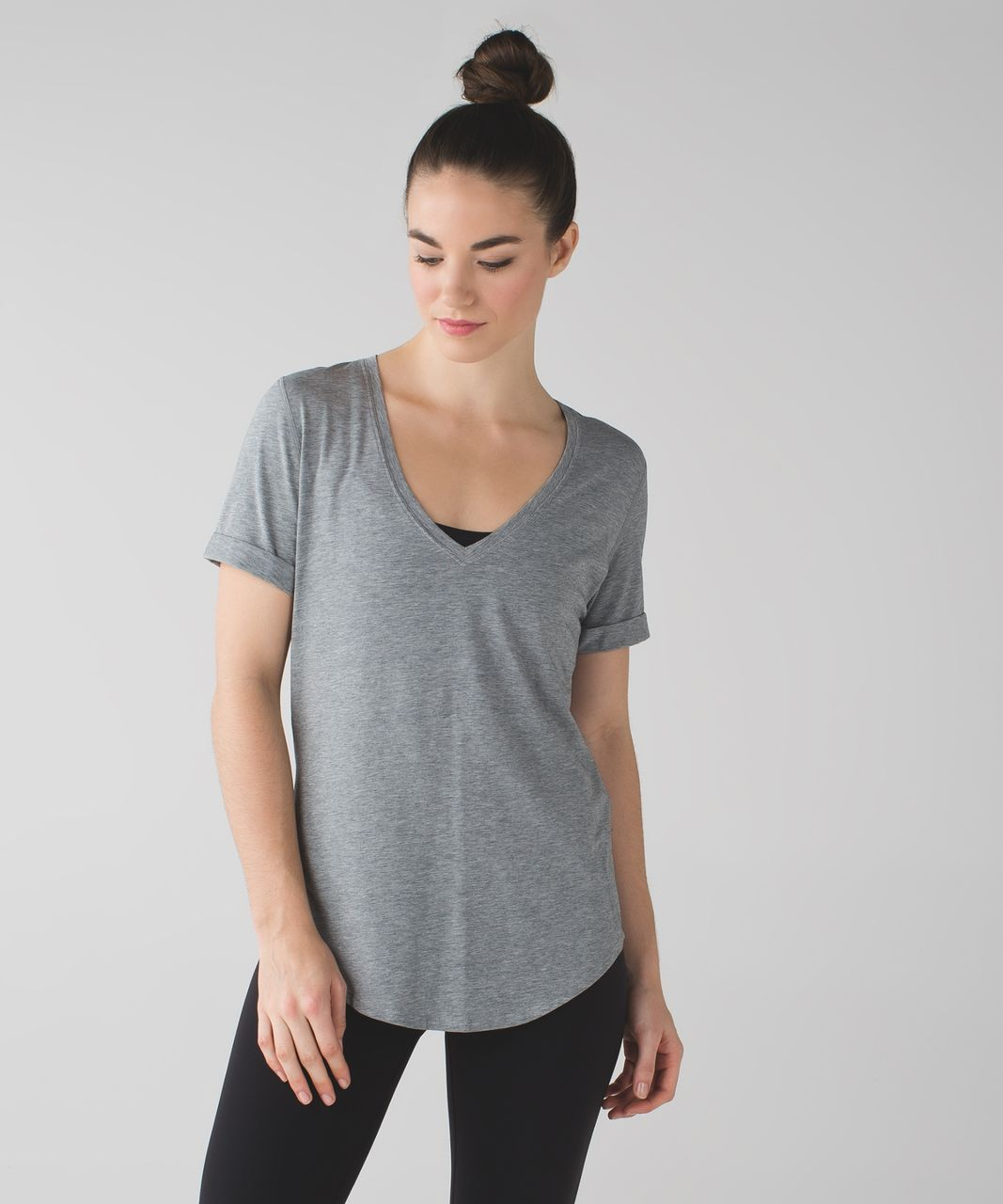 Lululemon Love Tee II - Heathered Medium Grey