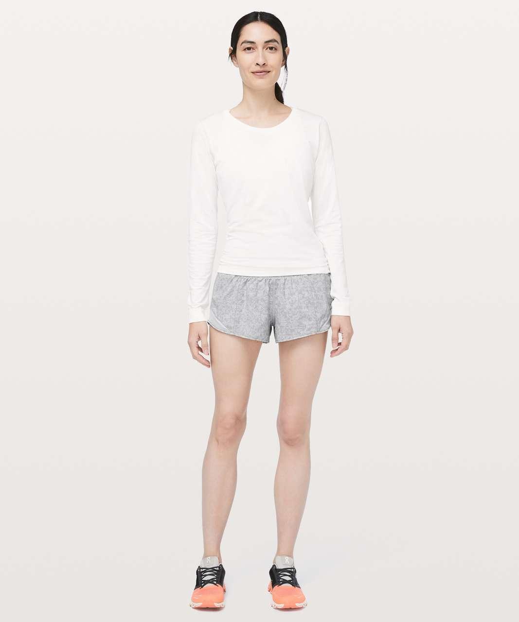 "Lululemon Hotty Hot Short II *2.5"" - Prism Dash Alpine White French Clay / Alpine White"