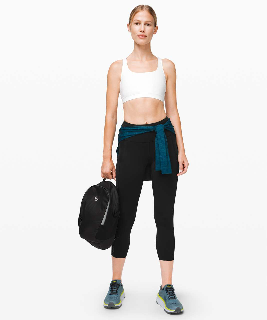 "Lululemon Fast and Free High-Rise Crop II 23"" *Non-Reflective - Black"